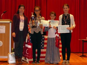 Winners of the Reading Aloud Competition